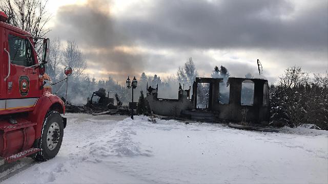 Une maison de Beauceville détruite par le feu cette nuit
