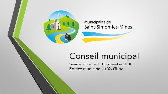 Conseil municipal de Saint-Simon-les-Mines du 13 novembre 2018
